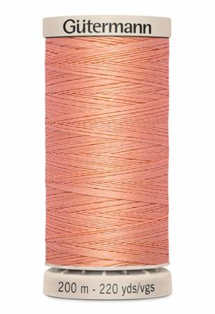 Cotton Quilting Thread 200m/219yds Peach
