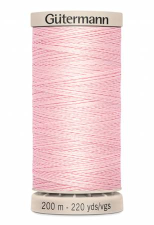 Pink 2538 Cotton Hand Quilting Thread 200m/219yds Gutermann