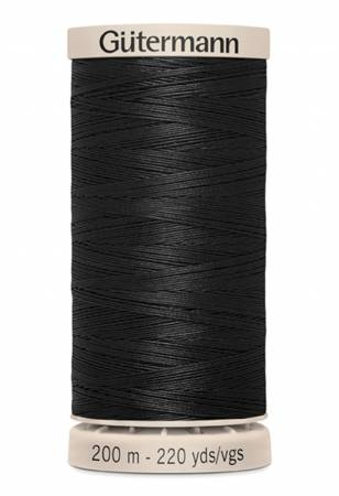 Cotton Quilting Thread 200m/219yds Black