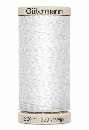 Cotton Quilting Thread 200m/219yds White