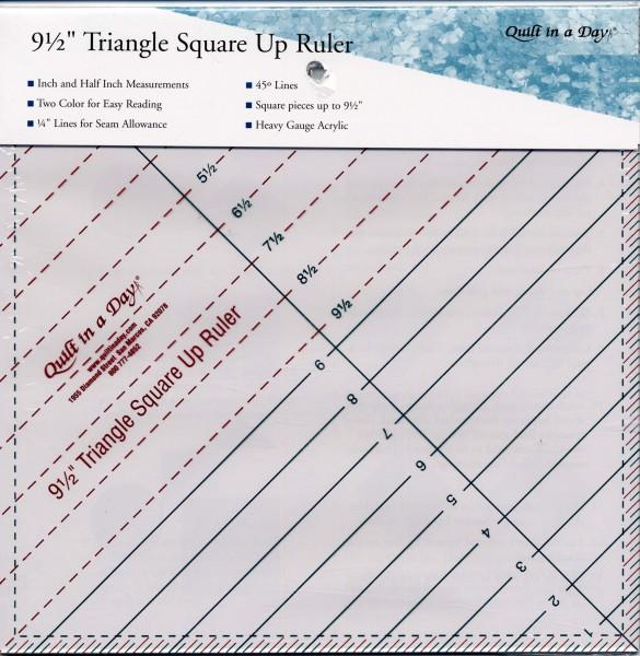 Triangular Square Up Ruler 9 1/2in