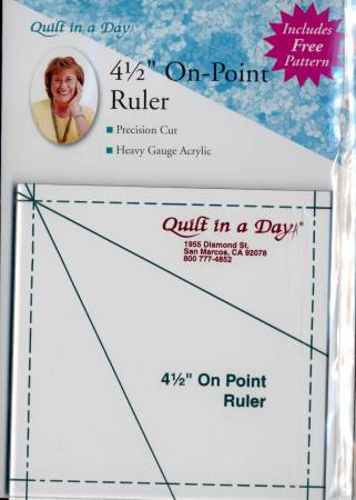 4-1/2in On Point Ruler Template