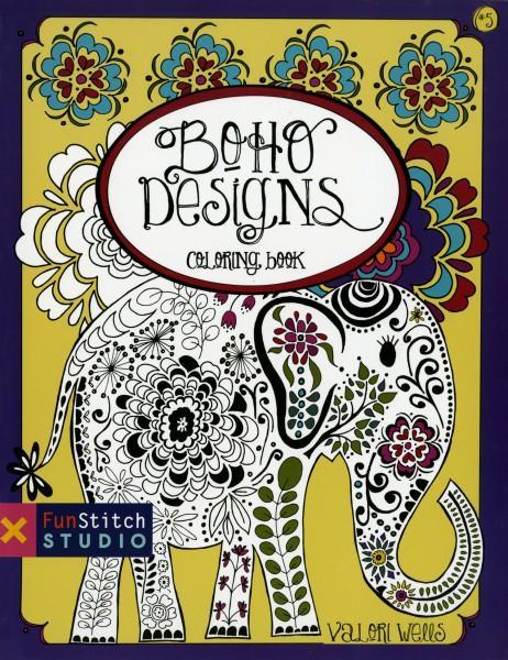 Boho Designs Coloring Book