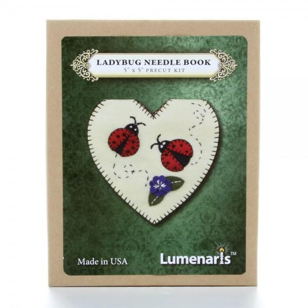 Wool Felt Kit Ladybug Heart Needle Book