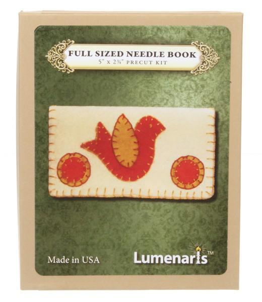 Wool Felt Kit Full Sized Needle Book  Cream