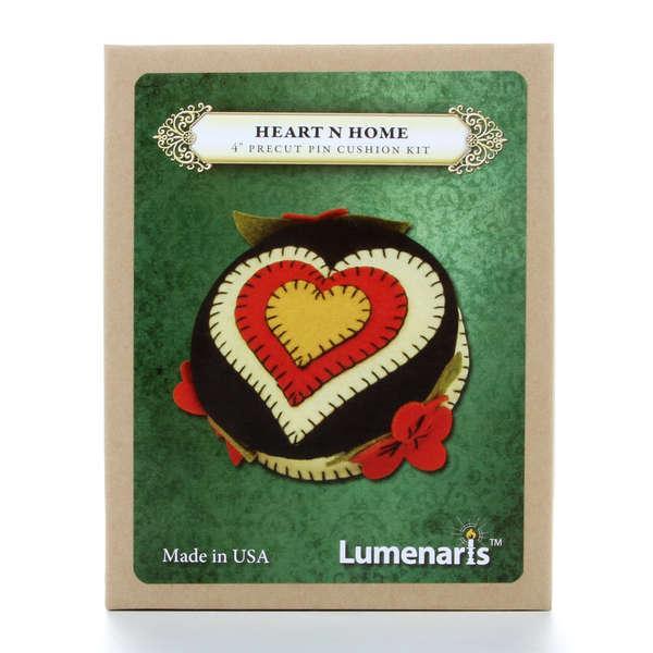 Wool Felt Kit Heart N Home Pincushion 4in Black