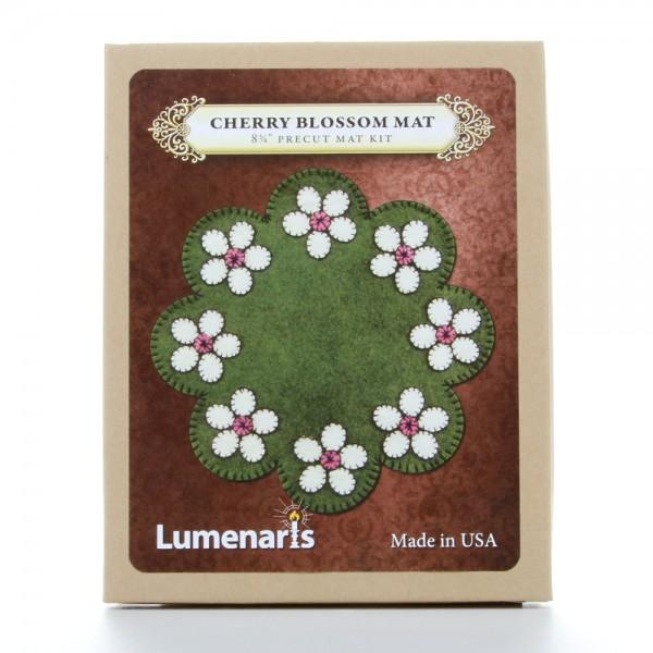 Wool Felt Kit Cherry Blossom Mat Kit  8-3/4in