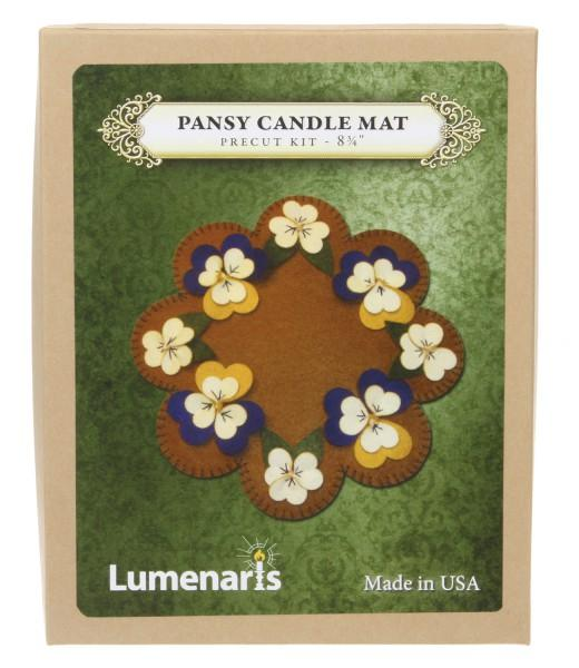 Wool Felt Kit Pansy Candle Mat