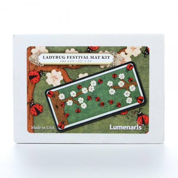 Lumenaris Ladybug Festival Mat Wool KIT 12 x 24