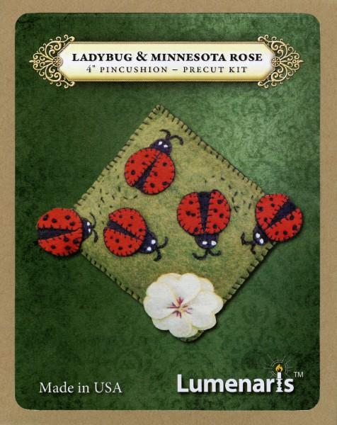 Wool Felt Kit Ladybug & Minnesota Rose Pincushion