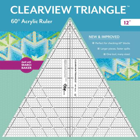 **12in Clearview 6o degree Triangle Ruler