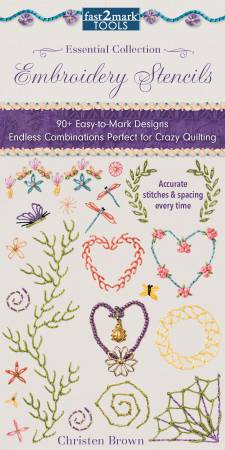 Fast2mark Embroidery Stencils, Essential Collection
