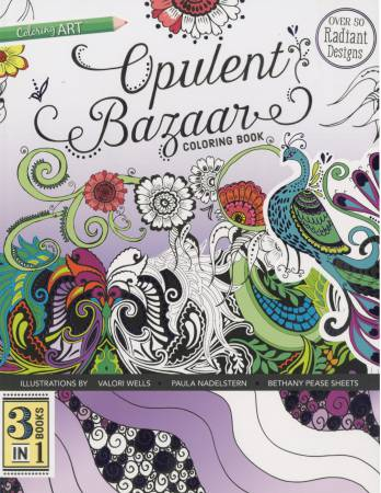 Opulent Bazaar Coloring Book - 3 Books in 1