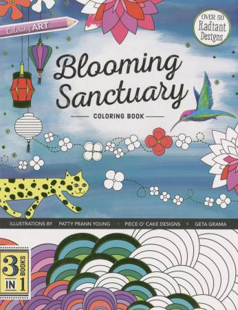 Blooming Sanctuary Coloring Book - 3 Books in 1