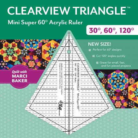 Clearview Triangle/Mini Super 60 Degree (7.25 Ruler)