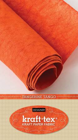 18.5 x 28.5 Kraft-tex Kraft Paper Fabric/Tangerine Tango