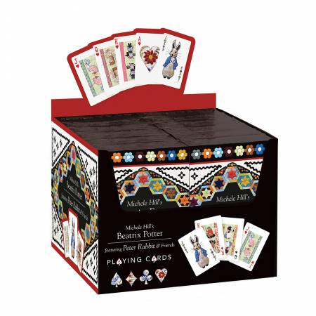 Michele Hills Beatrix Potter Playing Cards Display Set