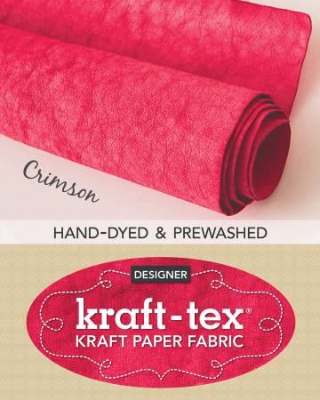 Kraft-tex Roll Crimson Hand-Dyed & Prewashed