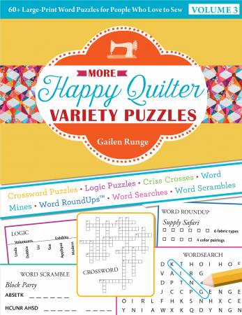 More Happy Quilter Variety Puzzle Book
