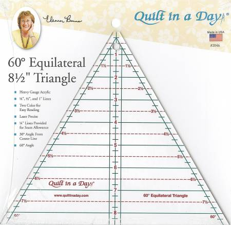 60 Degree Equilateral 8 1/2 Triangle Ruler