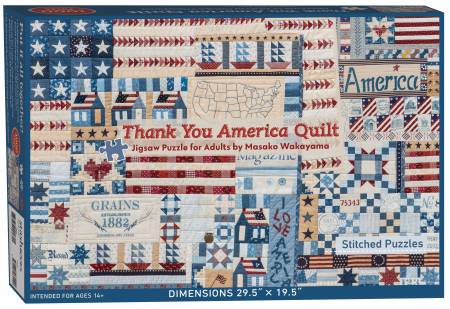 Thank You America Quilt Jigsaw Puzzle for Adults