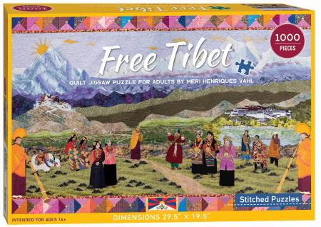 Free Tibet Quilt Jigsaw Puzzle for Adults by Meri Vah