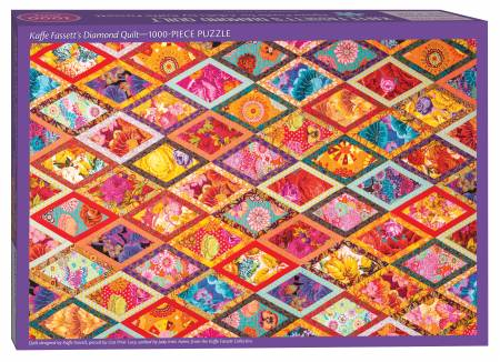 Kaffe Fassetts Diamond Quilt Jigsaw Puzzle for Adults