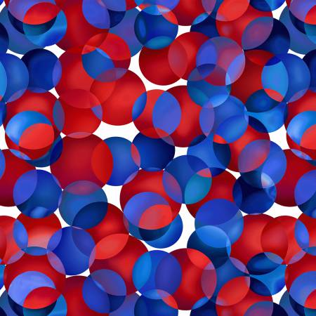 Red/White/Blue Dotcentric 108' Digitally Printed 20%