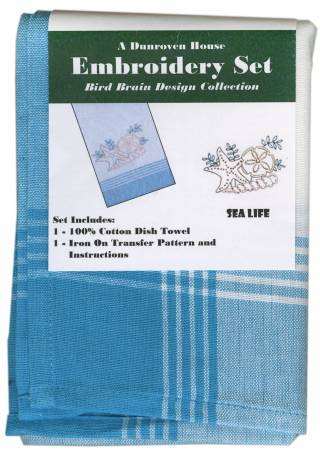 Towel Embroidery Set 1 Bird Brain Designs Sea Life