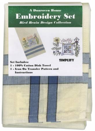 Towel Embroidery Set 1 Bird Brain Designs Simplify