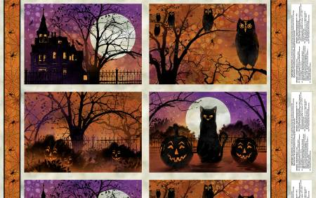 Placemat Panel - Frightful Night Halloween by WIlmington Prints