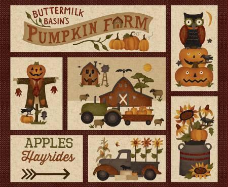 Cream Buttermilk Basin's Pumpkin Farm Panel