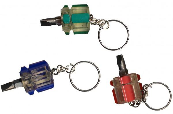 Mini Flathead Screwdriver on a Key Chain 36pc