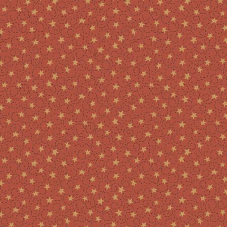 2562 Red Swirly Star
