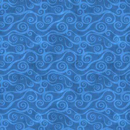 108 Swirly Scroll~Blue