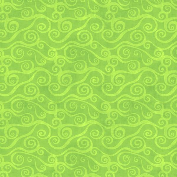Lime Swirly Scroll 108in Wide - 2078-775