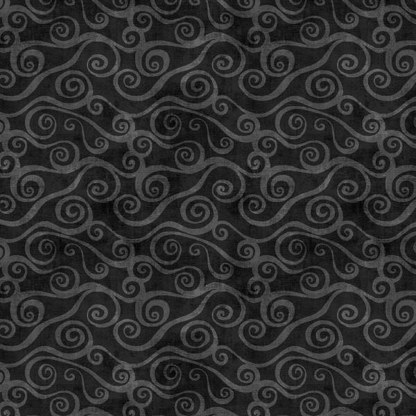 Black Swirly Scroll 108in Wide-2078-999
