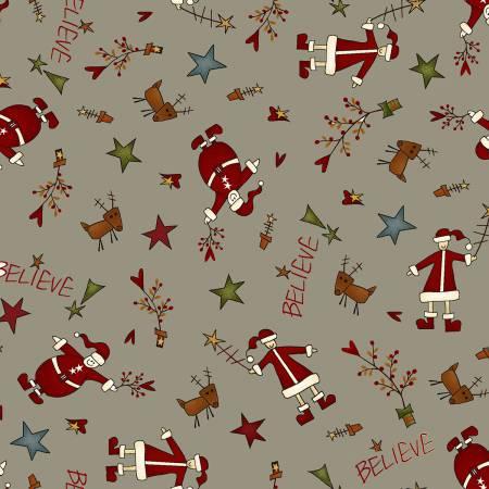 Believe, Grey Tossed Santas