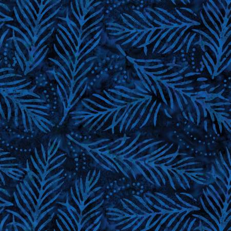 Delicate Fronds 108in Wide Back - Navy