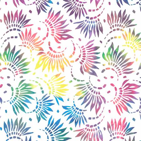 Essentials Multi Petals White Background 108in  2086-154