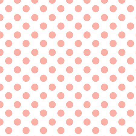 Fabric Camelot Pink Chai Dots