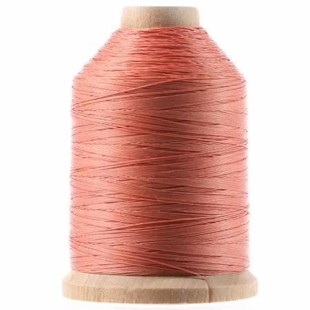 Cotton Hand Quilting Thread 3-ply T-40 1000yds Coral