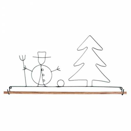 Wire Snowman Wallhanging Holder 12
