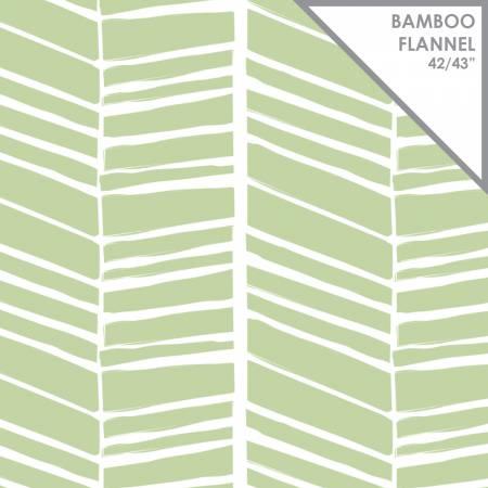 Chevron Bamboo Flannel 21172406H Eucalyptus