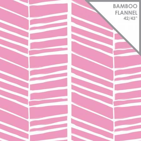 Chevron Bamboo Flannel 21172406H Begonia
