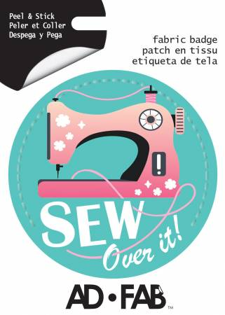 Sewer's Life - Sew Over It - Adhesive Fabric 3 Badge