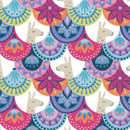 Multi Embellished Scallops, Llama Drama Collection