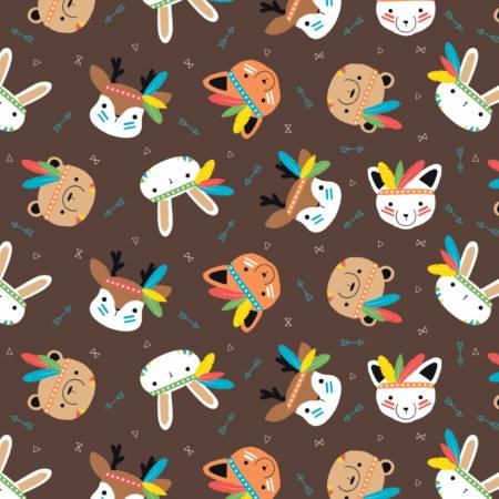 Brown Wild Menargerie Flannel