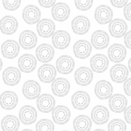 Circle Burst 2122-100 White on White 108 Wide Back