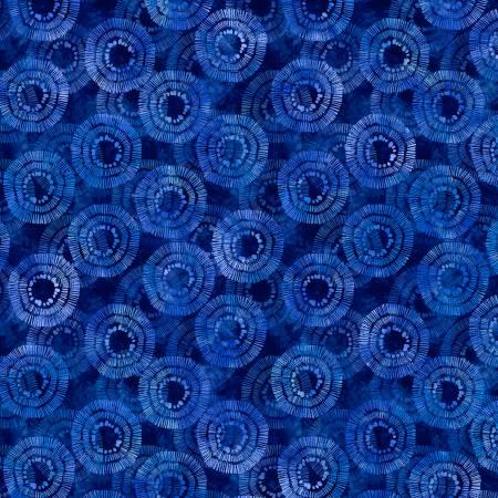 Circle Burst 2122-441 Blue 108 Wide Back